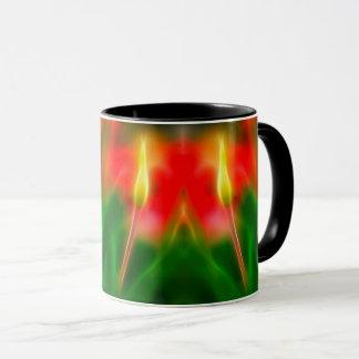 Green, Red and Yellow Tulip Glow Mug