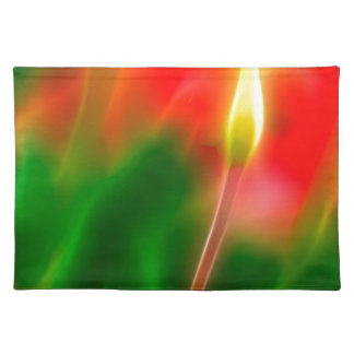 Green, Red and Yellow Tulip Glow Placemat