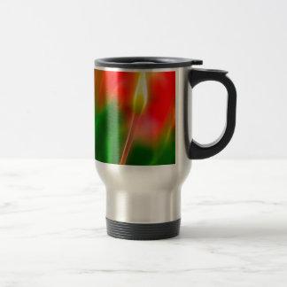 Green, Red and Yellow Tulip Glow Travel Mug