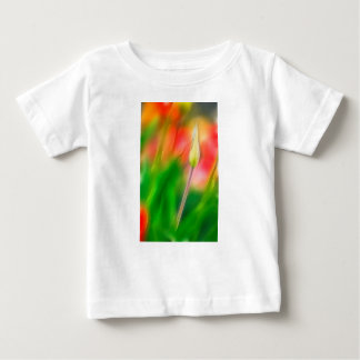 Green Red and Yellow Tulip Sketch Baby T-Shirt