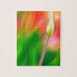 Green Red and Yellow Tulip Sketch Jigsaw Puzzle