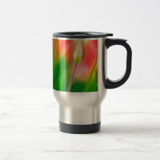Green Red and Yellow Tulip Sketch Travel Mug