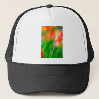 Green Red and Yellow Tulip Sketch Trucker Hat