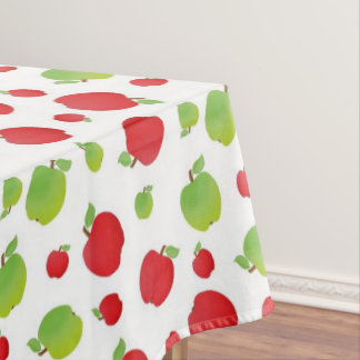 Green & Red Apple Print Tablecloth
