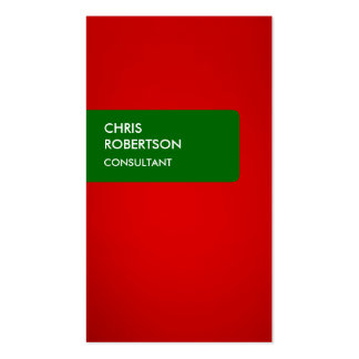 Green Red Attractive Business Card