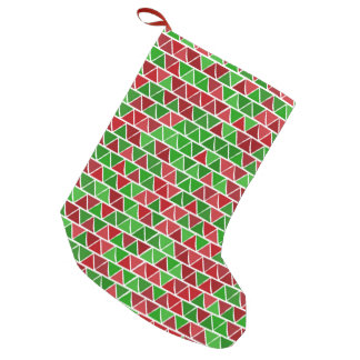 Green red Christmas Stocking