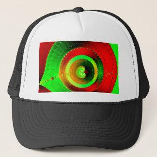 Green Red Circle Fractal Trucker Hat