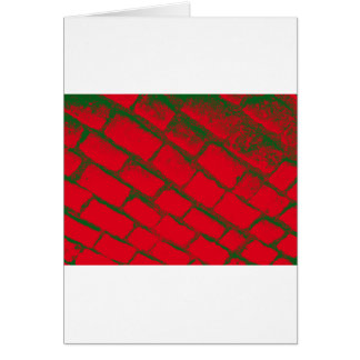 Green red cobbles reversed card