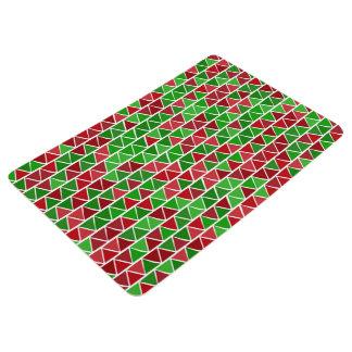 Green red Floor Mat