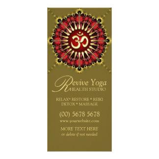 Green Red NewAge Gold OM Sign Yoga Rack Cards