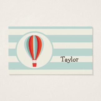 Green, Red, Orange Hot Air Balloon Business Card