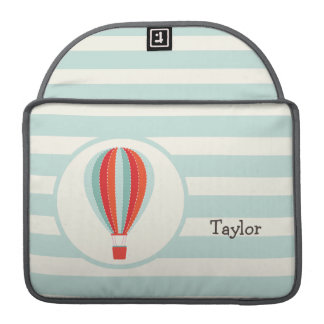 Green, Red, Orange Hot Air Balloon Sleeve For MacBook Pro
