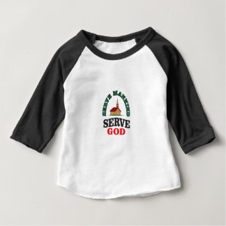 green red serve god baby T-Shirt