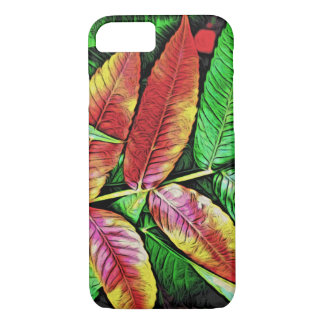 Green Red Tree Leaves Nature Colors iPhone 7 Case