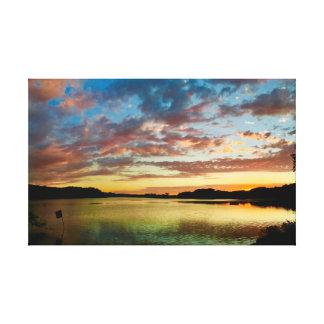 "Green Reflection     27""x17"" Canvas Print"
