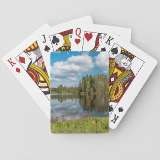 Green Reflection Poker Deck