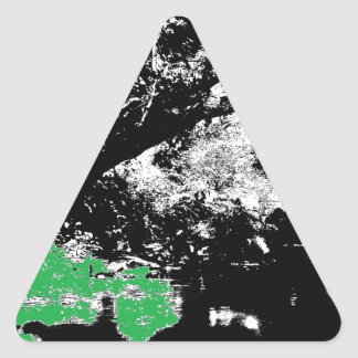 Green Reflection with Tree Triangle Sticker