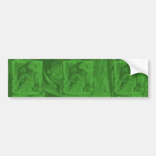 Green Reflections Bumper Sticker Bumper Sticker