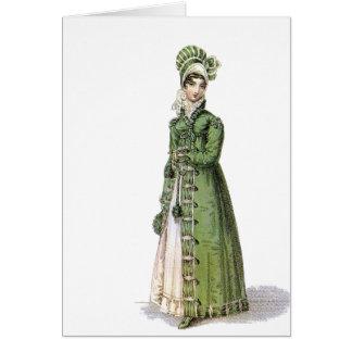 Green Regency Lady Card