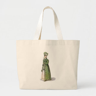 Green Regency Lady Large Tote Bag