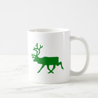 Green Reindeer Coffee Mug