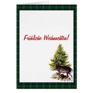 Green Reindeer, Fröhliche Weihnachten! Card