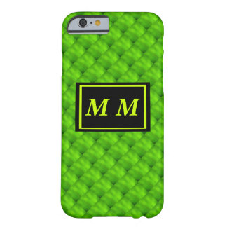 Green Repeating Background Barely There iPhone 6 Case