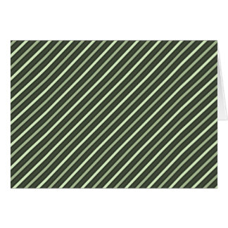 Green Retro Diagonal Stripes Cards