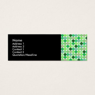 Green Retro Dots Profile Cards