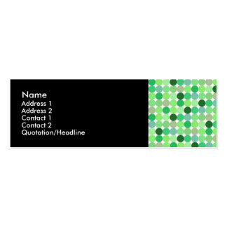 Green Retro Dots Profile Cards Pack Of Skinny Business Cards