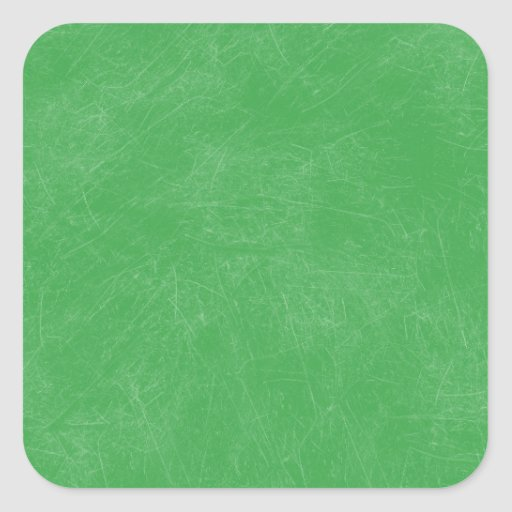 Green Retro Grunge Scratched Texture Square Stickers