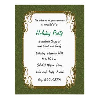 Green Retro Holiday Invitation