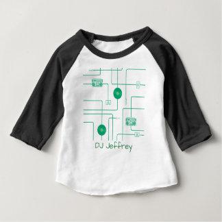 Green Retro Music Illustration Baby T-Shirt