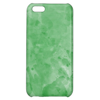 Green Retro Paint Splatter Texture Pattern iPhone 5C Cases