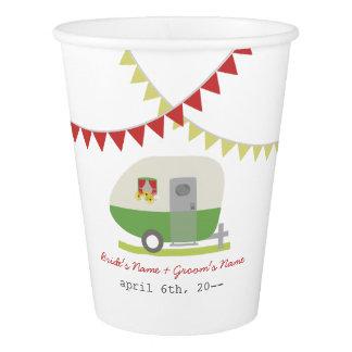Green Retro Trailer Wedding Cups