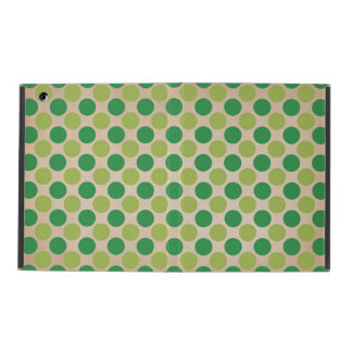 Green retro vintage circles pattern iPad cover