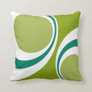 green retro Your American MoJo Pillow