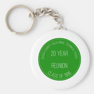 Green Reunion Logo Basic Round Button Key Ring