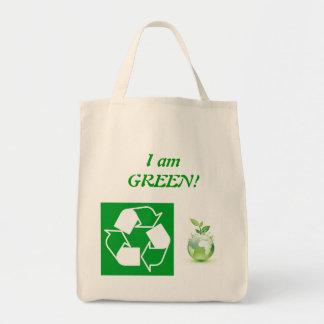 Green reusable bag