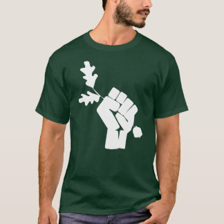 Green Revolution T-shirt- white fist T-Shirt
