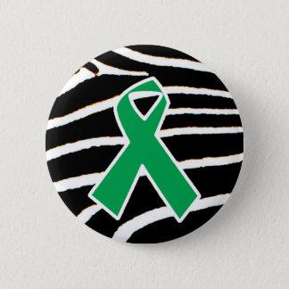 Green Ribbon 6 Cm Round Badge