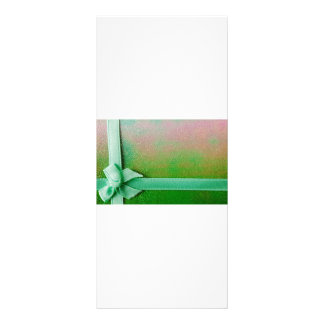 Green ribbon background rack card design