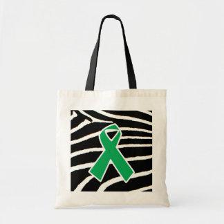 Green Ribbon Budget Tote Bag