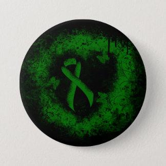 Green Ribbon Grunge 7.5 Cm Round Badge