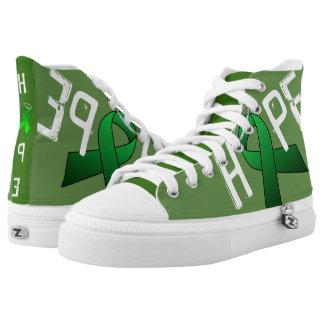 GREEN RIBBON High Top ZIPZ Printed Shoes