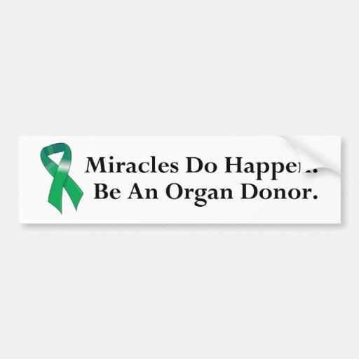 Green Ribbon Miracle Bumper Sticker