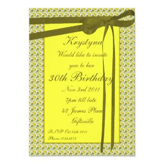 Green Ribbon Party Invitation