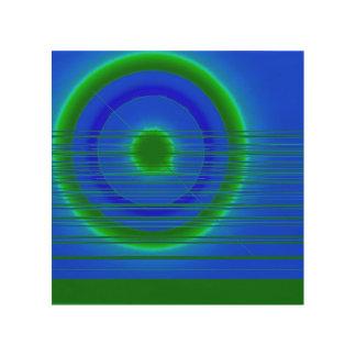 green ring wood print