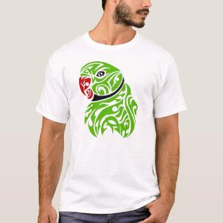 Green ringneck parrot tattoo T-Shirt