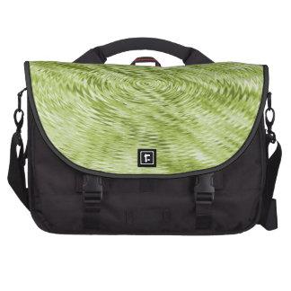 Green Ripples Laptop Messenger Bag
